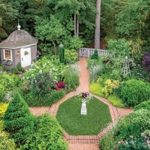 The garden of Sandy and David Helsel in Williamsburg, VA, June, 2013